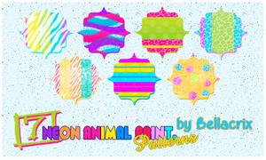 Neon Animal Print Patterns