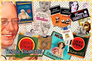 Vintage Cigarettes PNG's by Bellacrix