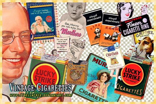 Vintage Cigarettes PNG's