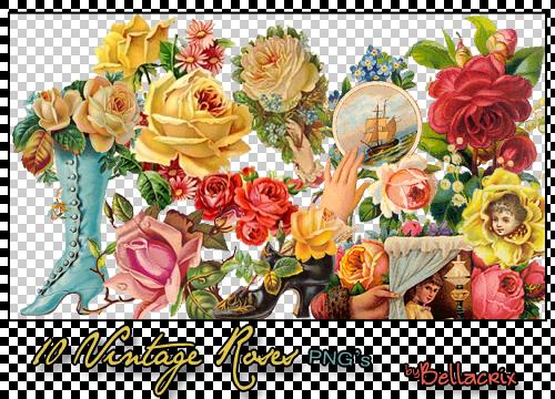10 Vintage Roses PNGs by Bellacrix