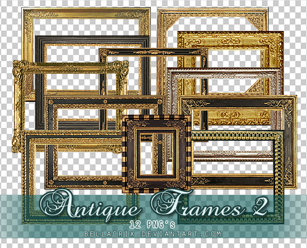 Antique Frames 2 PNGs by Bellacrix