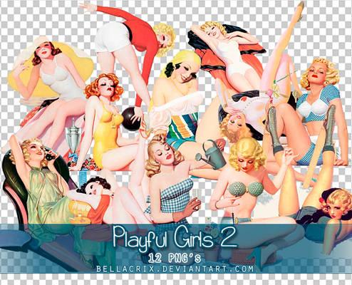 Playful Girls 2 PNGs