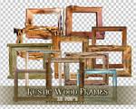 Rustic Wood Frames PNGs
