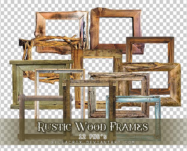 Rustic Wood Frames PNGs by Bellacrix