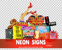 Neon Signs PNGs