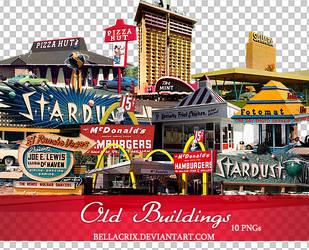 Old Buildings PNGs by Bellacrix
