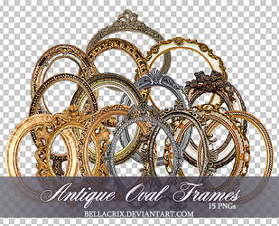 Antique Oval Frames PNGs