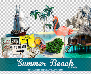 Summer Beach PNGs by Bellacrix
