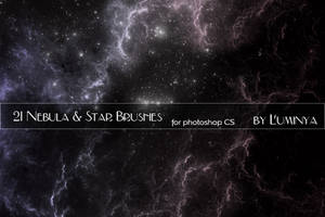 Nebula and Stars Brushes by Luminya