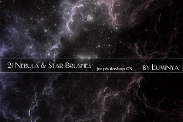 Nebula and Stars Brushes by Luminya