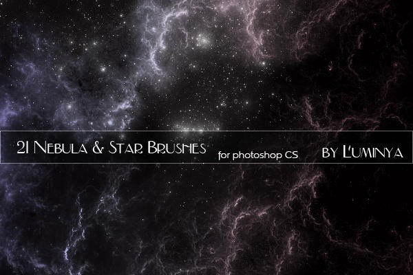 Nebula and Stars Brushes by Luminya on DeviantArt