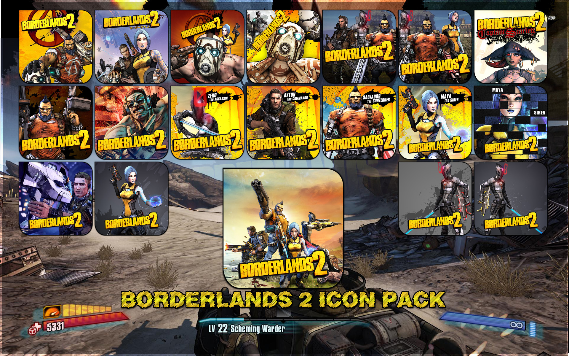 Borderlands 2 icon Pack by Kalca on DeviantArt