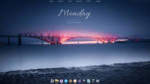 Windows 10 21H2 With Rainmeter And Nexus Dock