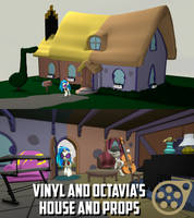 Vinyl and Octavia's House and Props [SFM Download] by Tech--Pony