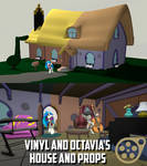 Vinyl and Octavia's House and Props [SFM Download]