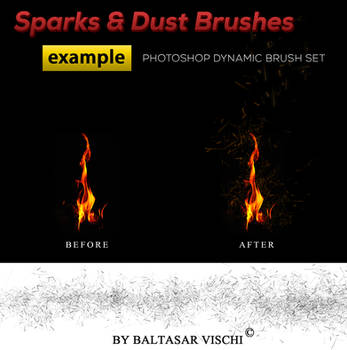 Sparks and Dust Brushes -by Baltasar Vischi by BaltasarVischi