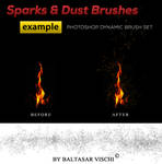 Sparks and Dust Brushes -by Baltasar Vischi