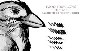 Marker Brushes - Free by Food-For-Crows