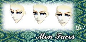 [MMD] Male Faces Edit DL(N:Facials)