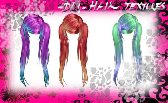 [MMD] Hair Textures DL