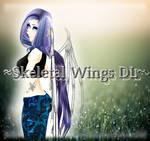 [MMD] Skeletal wings DL