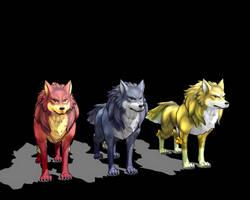 [MMD] Wolf Download by DeidaraChanHeart