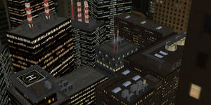 [MMD] City Rooftop Stage -DL-