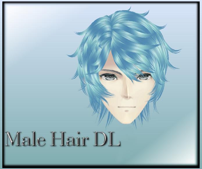 [MMD] Male Hair DL by DeidaraChanHeart