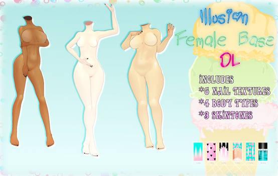 [MMD] Illusion Female Base -DL-