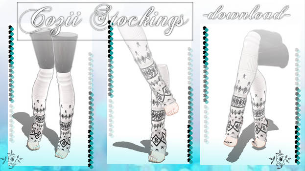[MMD] Cozii Stockings Socks -DL-