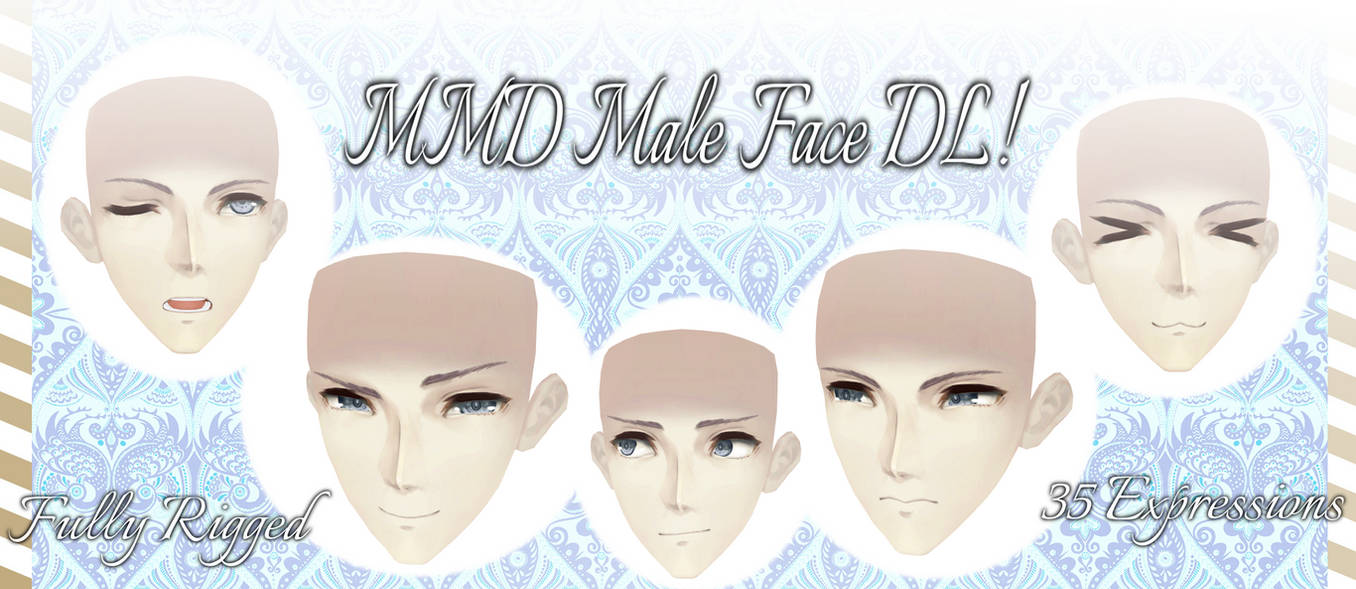 [MMD] Male Face -DL-