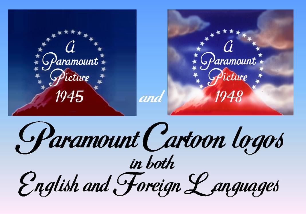 1945 and 1948 Paramount Cartoon logo language pack by MalekMasoud