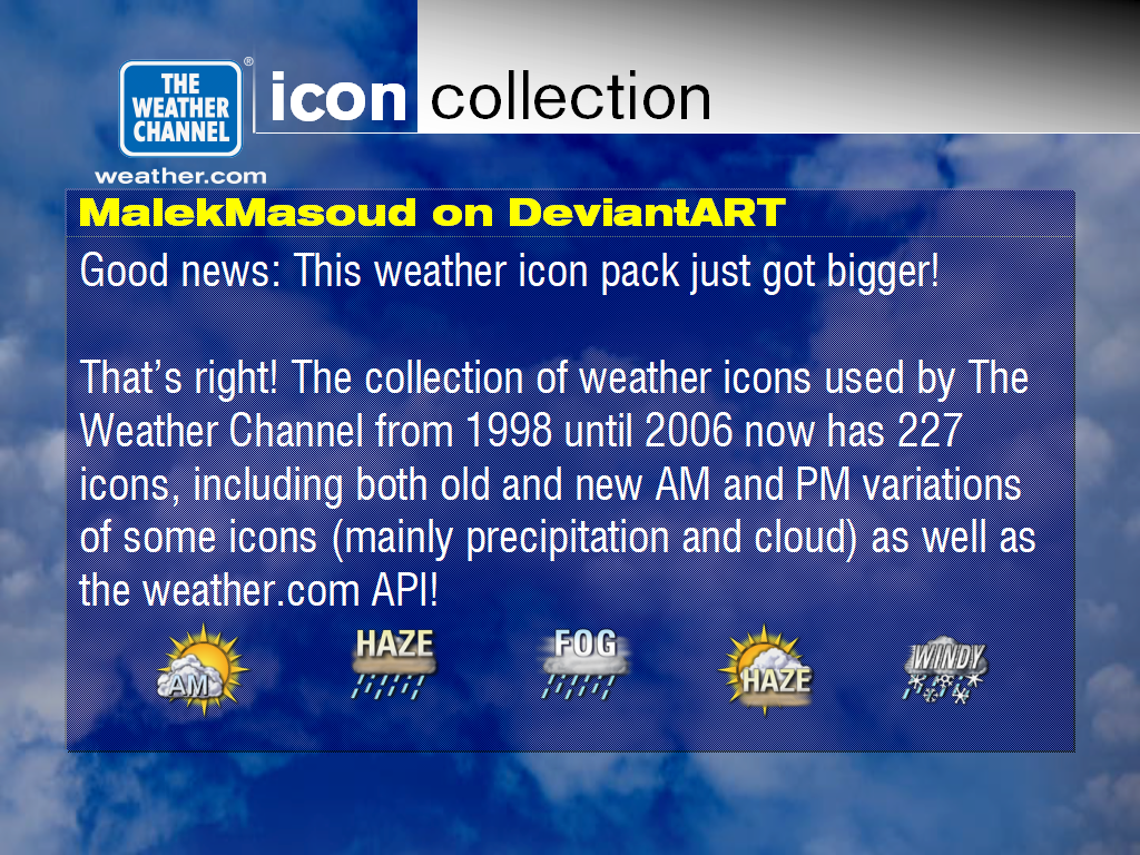 The Weather Channel 1998-2006 Icon Collection by MalekMasoud ...