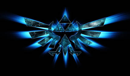 Legend Of Zelda-Triforce(blue) Google Chrome Theme
