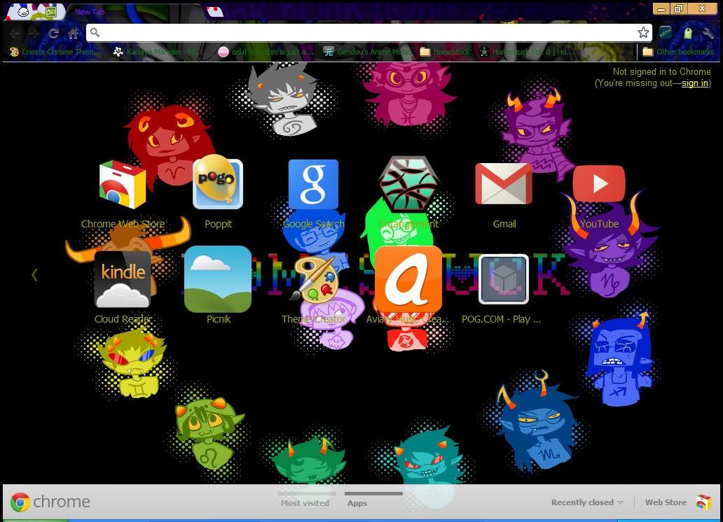 homestuck google chrome theme by googlechromethemes on deviantart