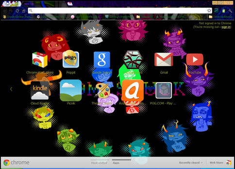 Homestuck Google Chrome Theme
