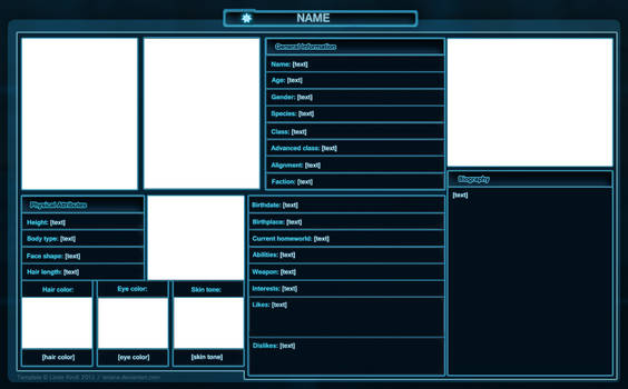 SWTOR: Character Sheet Template