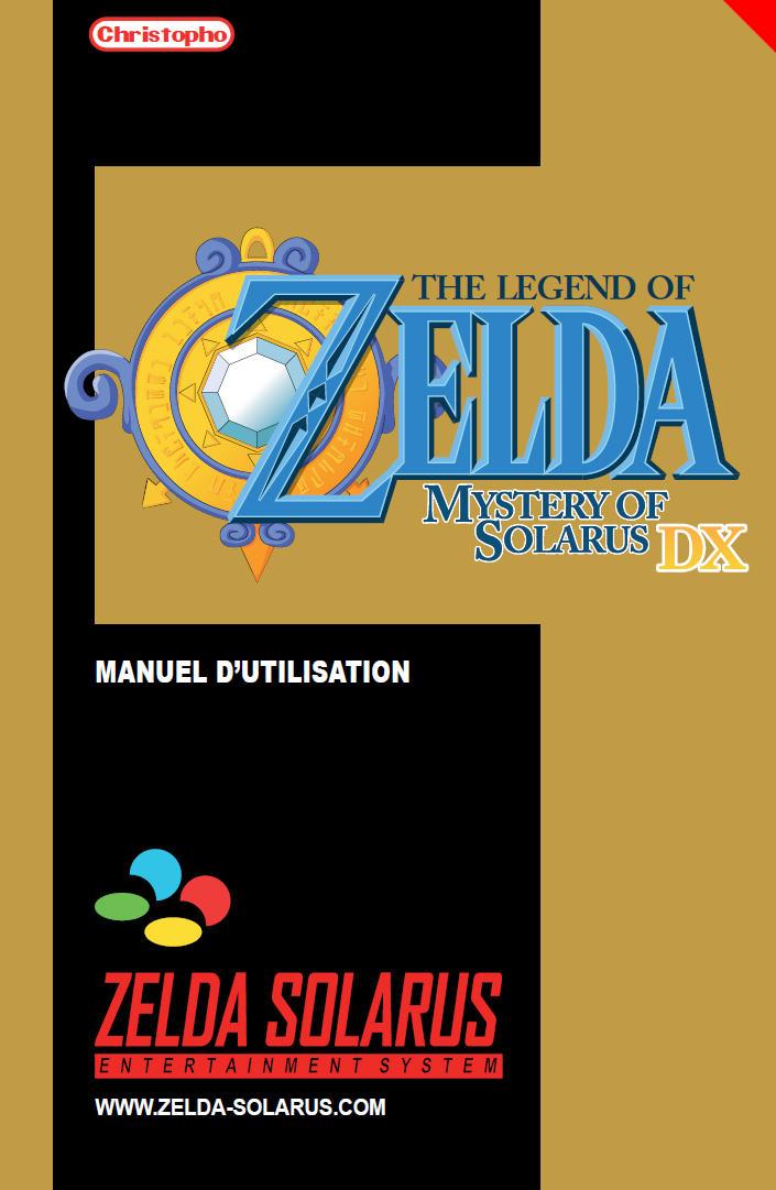 Zelda Solarus DX Manuel d'utilisation by oclero