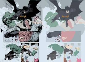 Capullo's Batman FLATS by Malkamok