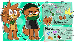 Maxwell ref (fursona) by Slumberdoq