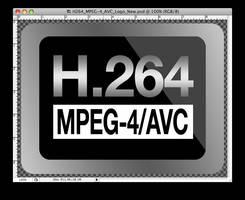H.264 MPEG-4 AVC LOGO .psd