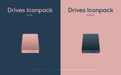 Drives Iconpack - Rose and Denim by octaviotti