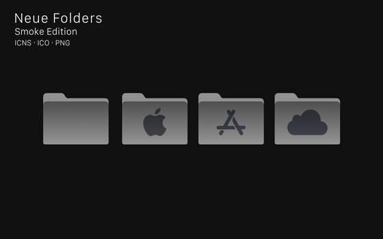Neue Folders Iconpack - Smoke