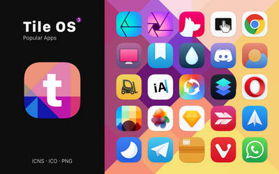 Tile OS 3 - A macOS Iconpack by octaviotti