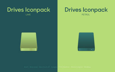 Drives Iconpack - Lime and Petrol by octaviotti