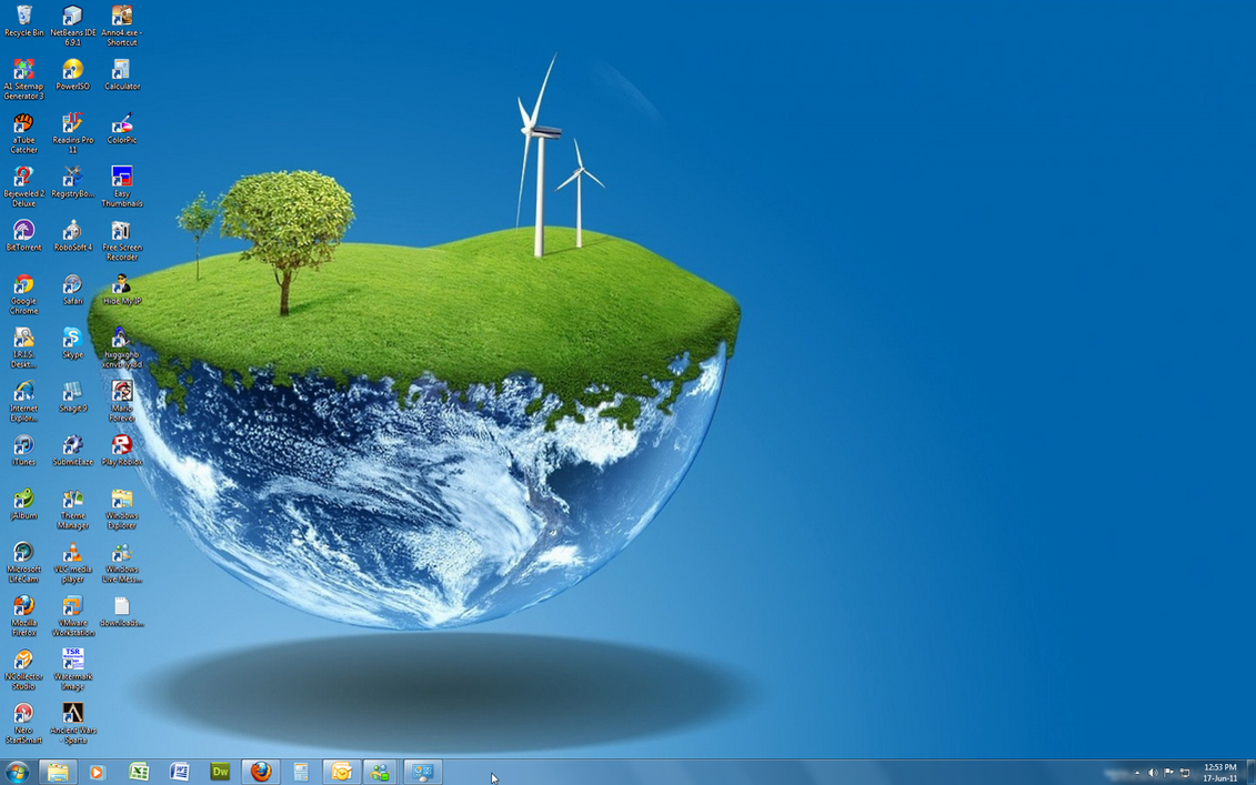 Windows 7 Theme - 3D World by Windowsthememanager