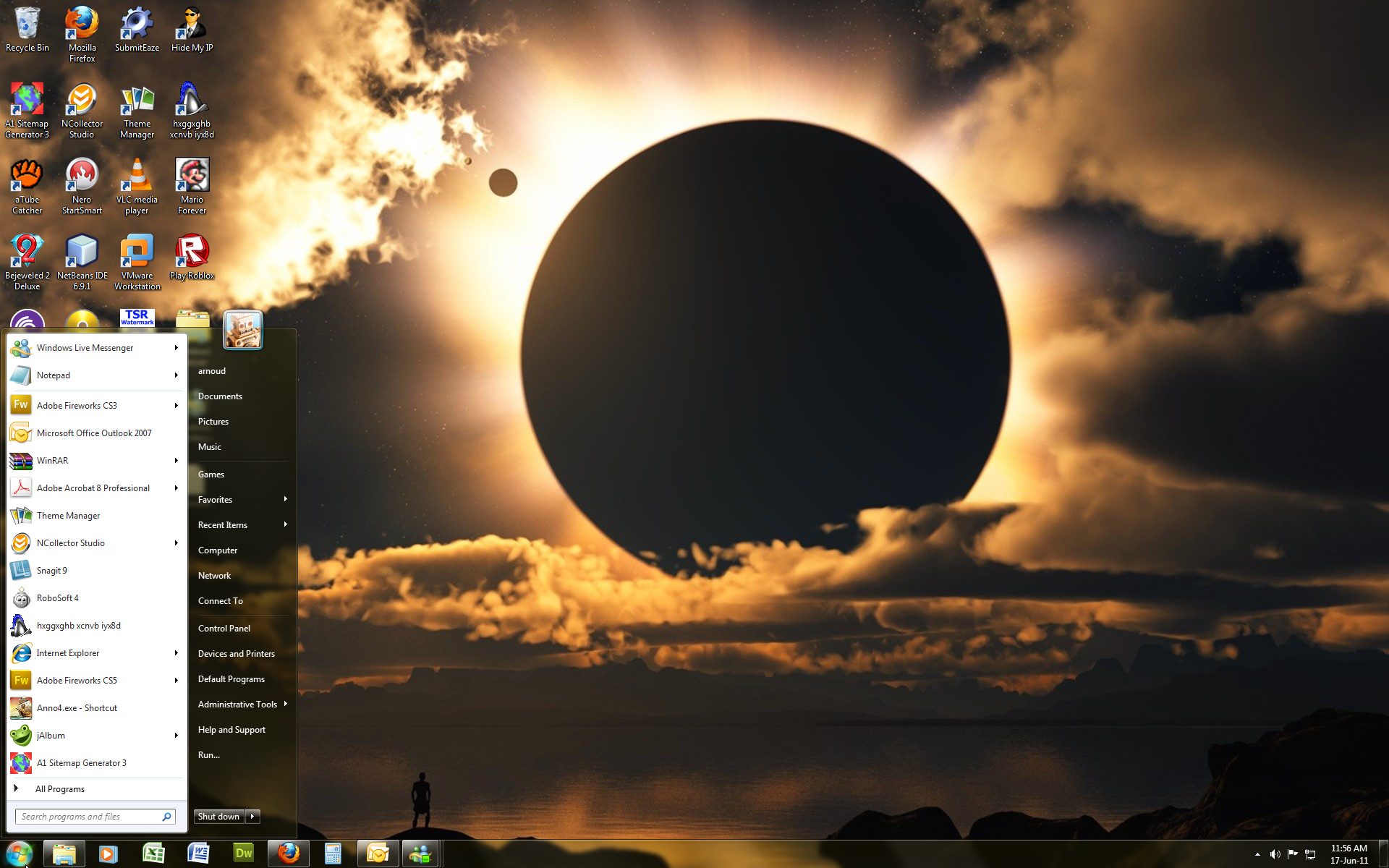 Windows 7 Theme Moon Eclipse By Windowsthememanager On Deviantart