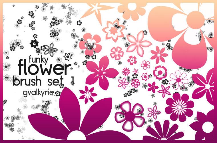 Flower Brush Set 1 by gvalkyrie