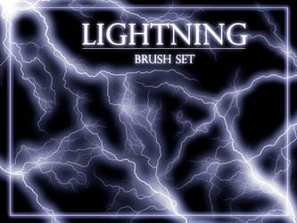 Lightning brush set by gvalkyrie