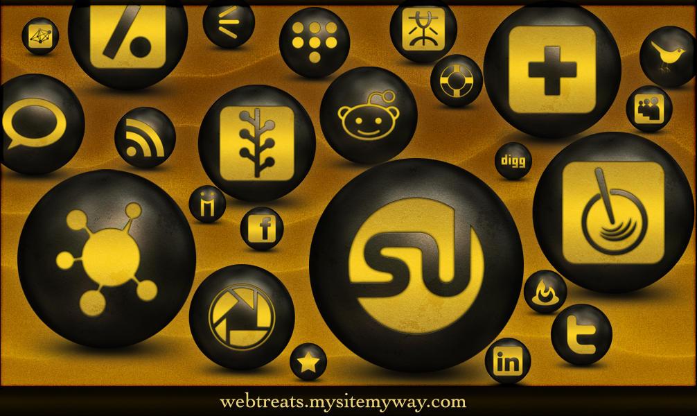 Antique Social Media Icons by WebTreatsETC